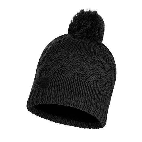 Buff Savva Bonnet tricoté Polaire Mixte Adulte, Noir, FR Unique Fabricant : Taille One sizeque