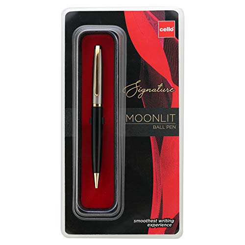 Cello Signature Moonlit Ball Pen - Blue | Premium metal pens| smooth writing experience | Ideal for gifting occasions