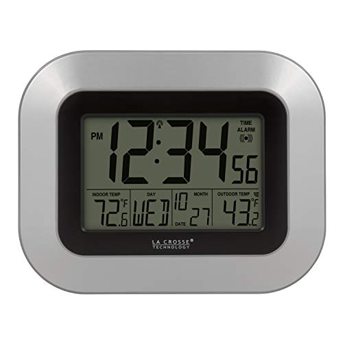 La Crosse Technology WS-8115U-S-INT Atomic Digital Wall Clock with...