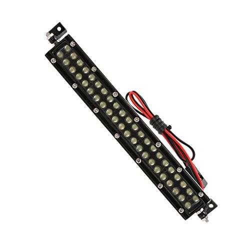 Sharplace Luz LED de Techo de Oruga de Metal RC (44LED) para Piezas de Automóvil Axial SCX10 CC01 1/10