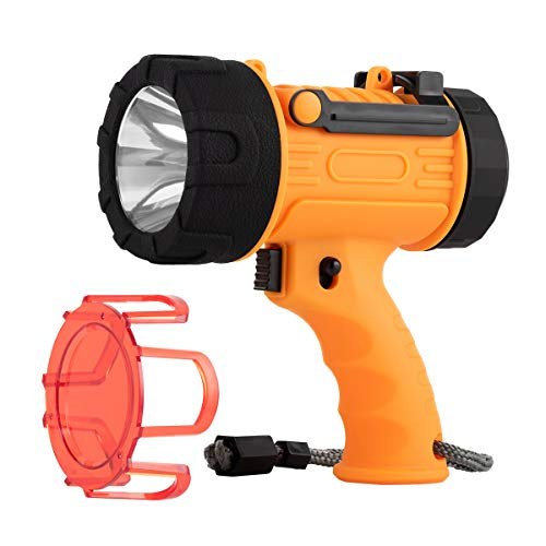 Rechargeable Spotlight,Handheld rechargeable spotlight 18W waterproof Flashlight, Super Bright 2000 Lumens CREE LED,10000mAh 20h Ultra-long Standby,Ideal Spotlight for Boating, Camping