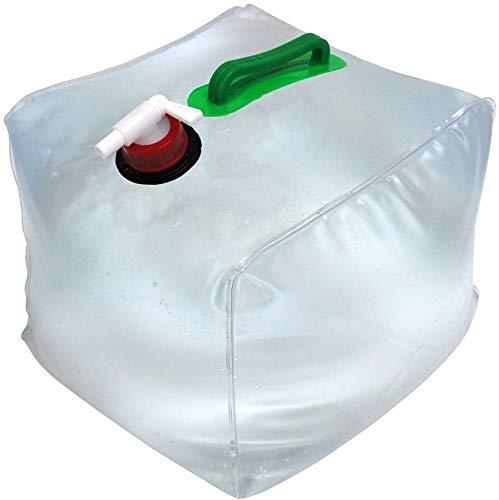 Rameng Bidon d'eau Pliant 20 L Réservoir d'eau Durable Sac Conteneur Portable Transparent avec Entonnoir
