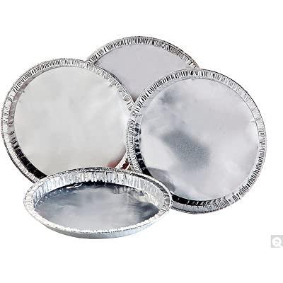 Qorpak Aluminum Moisture Balance Pans, 5' Dia. x 3/8'D, Pack of 100