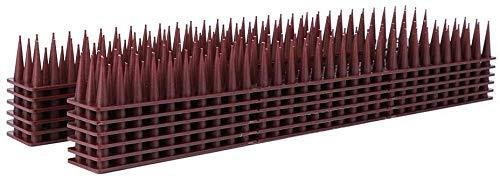 AIlysa 3.6m - 12pcs Antipalomas Pinchos Repelente, para Ahuyentar Palomas Gorriones Cuervos, Control de Aves, Anti Gatos, Gaviotas, Pájaros Control para Cercas