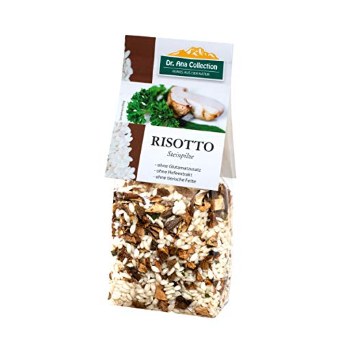 Dr. Ana Collection - Risotto Reis mit Steinpilzen 200g (3 Beutel) - auch erhältlich als 1 bis 9 Beutel