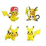 4 Unids / Set Figuras De Pokemon Anime Pikachu Raichu Colección De Figuras De Acción Juguetes Modelo Niños Regalos para Niños Regalo De Cumpleaños 5Cm