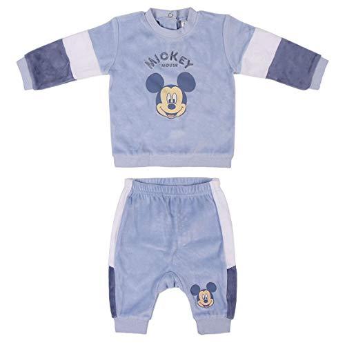 CERDÁ LIFE'S LITTLE MOMENTS 2200006144_T09M-C56 Conjunto Recien Nacido Invierno de Mickey, Azul, 9 meses Unisex bebé