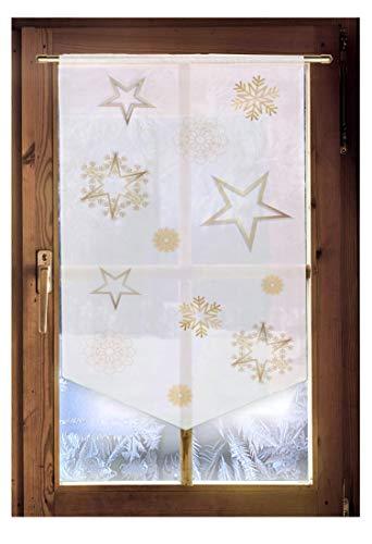 Scheibenhänger STERNENGLANZ Weihnachtsgardine Landhausdeko in 2 Größen