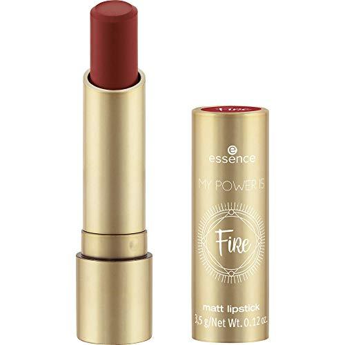 essence MY POWER IS FiRe matt lipstick, Nr. 03 I'm On Fire!, rot (3,5g)