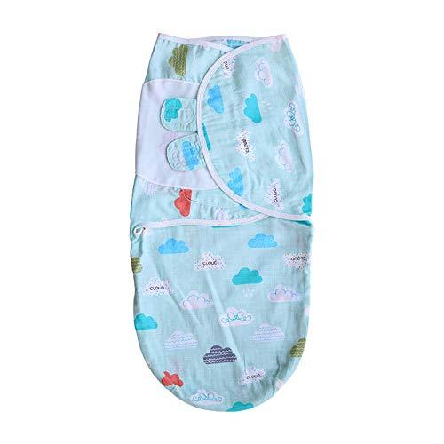 B/H Couverture Bébé Cosy Cotton,Serviette de bébé en Gaze Anti-Choc,Sac de Couchage Couette Nouveau-né câlin Bleu A_S,Fille Garçon Couvertures D'emmaillotage