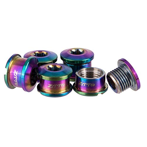 LoveinDIY Crankset Bolts Chainring Bolts Nuts for Road/Mountain Bike Disc Brake Rotors