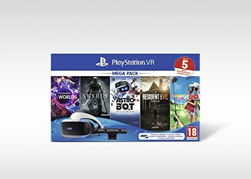 Sony PlayStation VR Mega Pack, Avec Casque PS VR + PS Camera + 5 Jeux Inclus, Système Compatible...