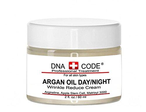 DNA CODE- Organic Argan Oil Day/Night Wrinke Reduce Cream, w/Argireline, M3000, Apple Stem Cell, Hyaluronic Acid by DNA CODE Skin Care