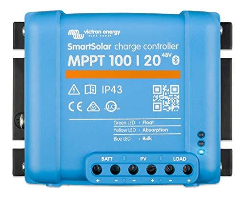 Victron Energy SmartSolar MPPT Laderegler 100/20-48 12V 24V 48V 20A Solarladeregler Bluetooth integriert SCC110020160R