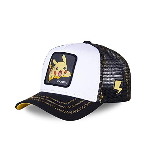 Capslab Pikachu Trucker Cap Pokemon White/Black - One-Size