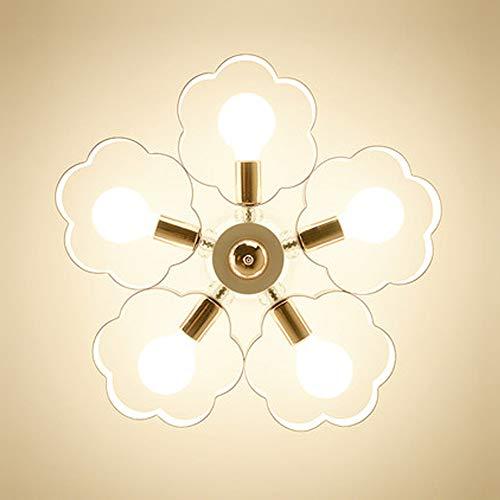 Plafond Chambre lampes salon salle à manger lit d'lampe de plafond d'enfants de fleur d'éclairage LED plafond côté chambre balcon filles Villa intérieur Ø60x36 cm Lampes E27 [Classe énergétique A ++]