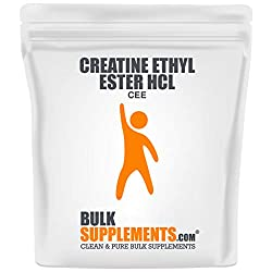 2- Bulksupplements Pure Creatine Ethyl Ester (CEE) HCL Powder (250 grams)