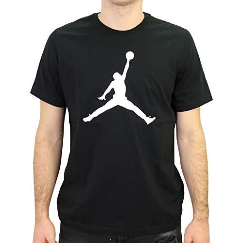 NIKE Jordan Jumpman Camiseta, Hombre, Black/White, XS