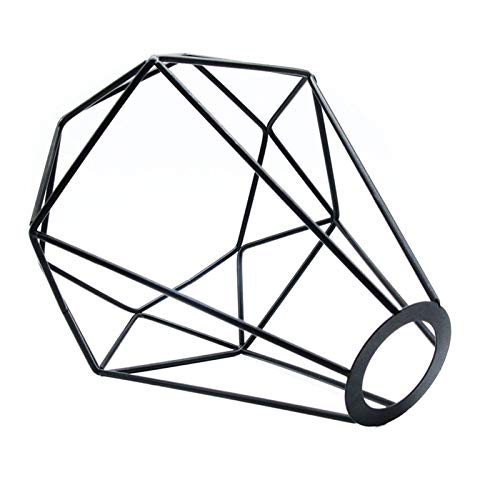 woyada Pantalla de lámpara de alambre de metal, jaula geométrica, pantalla de lámpara, soporte para ventilador, lámpara de pie, lámpara de techo, lámpara colgante