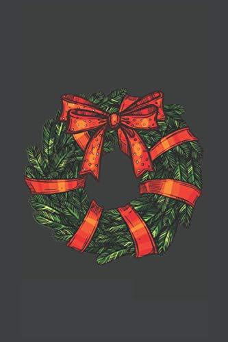 corona de Navidad: Cuaderno A5 forrado de regalo para Navidad, cuaderno de bocetos   Cubierta mate