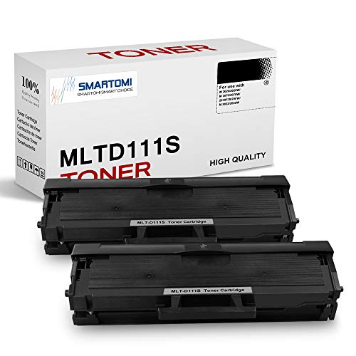 SMARTOMI, confezione da 2, cartucce toner nero MLT-D111S compatibili con Samsung MLTD111S per uso con stampanti Xpress serie SL- M2026 M2020 M2070 M2022 M2071