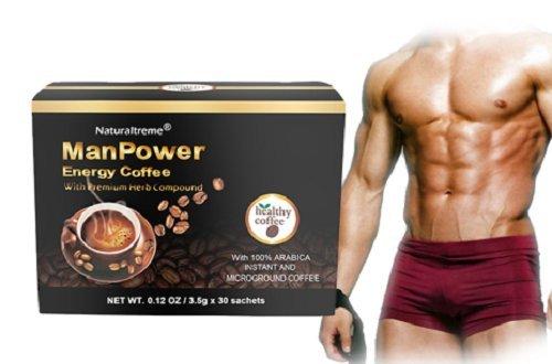 MANPOWER ENERGY COFFEE 100% NATURAL HERBAL FORMULA ENERGY STAMINA LIBIDO SEXUAL FUNTION` (30)