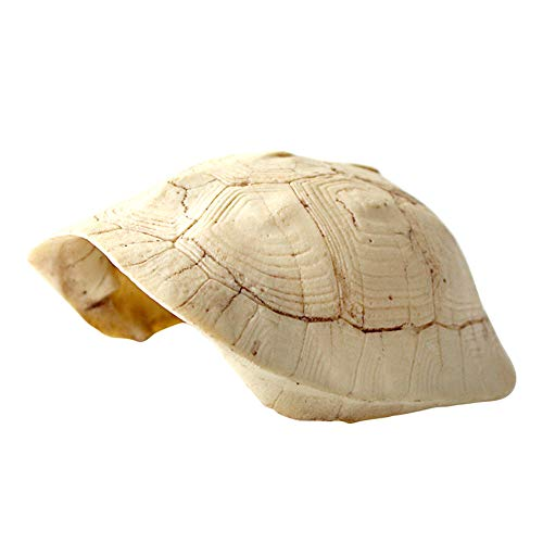 OMEM Caja de cría de reptiles refugio terrario escondite cuevas trepadoras plataforma de resina concha de tortuga hábitat decoración