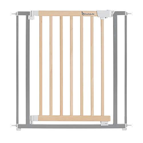 BADABULLE Barrière de Sécurité Safe & Lock Bois Métal - Pour ouverture de 73 à 81,5 cm