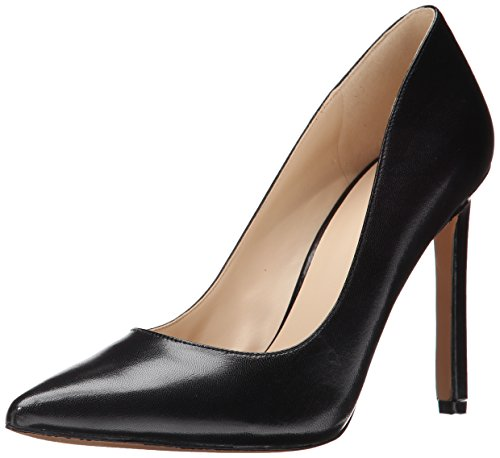 Nine West Women's Tatiana Dress Pump, Black Leather, 7