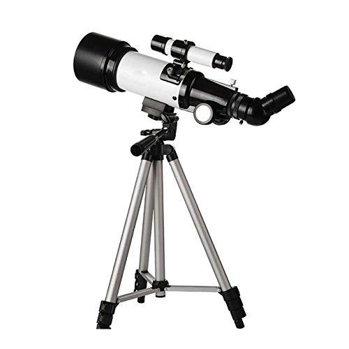 Telescopio para niños, telescopio refractor astronómico Accesorios para adultos Telescopio principiante para astronomía con trípode y adaptador para teléfono inteligente para observar la luna y el pa