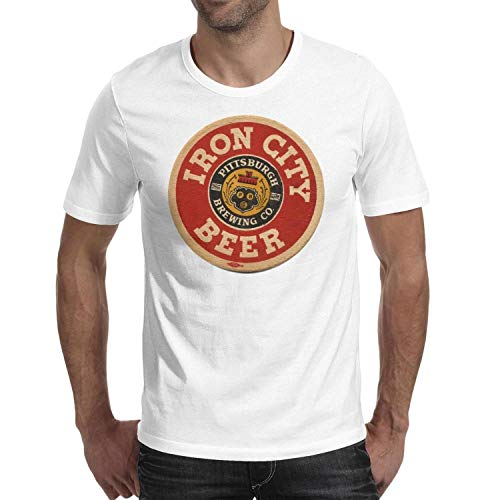 Men's T-Shirts Iron-City-Beer-Pittsburgh-Brewing-Co- T-Shirt Fit Travel Crew Neck Short Sleeve