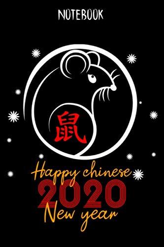 Notebook Happy Chinese New Year: Notizbuch Blanko A5 Geschenk Für Fans Des Chinesischen Horoskop / Organizer Mit 120 Seiten Notizen Schreibheft ... Oder Notizheft Für Chinesische Freunde