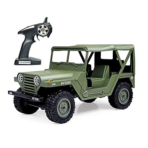 YSKCSRY RC Car Remote Control Truck RC Rock Crawler 1:14 2.4G 4WD Off-Road Vehículo De Alta Velocidad Minitary Truck Electric Hobby Grade RTR Toy para Niños Mayores De 14 Años Y Adultos