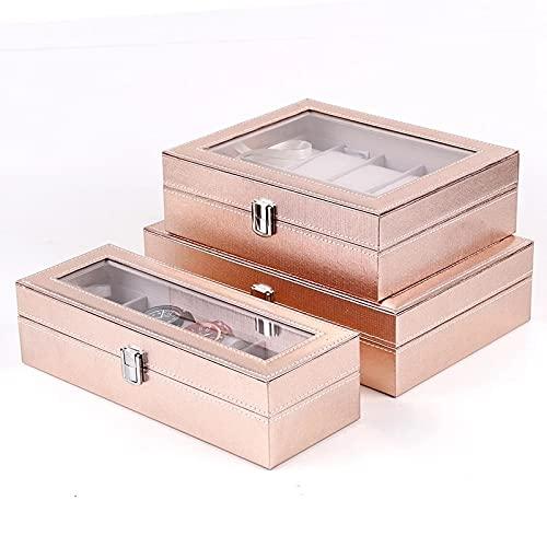 LXSNH Estuche Especial para Mujeres Mujeres Mujeres Amigo Relojes de Pulsera Box Almacenamiento Recoger PUsado PU Cuero (Color : A)