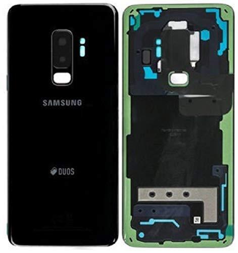 Original Tapa de la batería, parte posterior, cubierta de la batería para Samsung galaxy S9 PLUS DUOS G965F Negro / lámina adhesiva/ herramienta