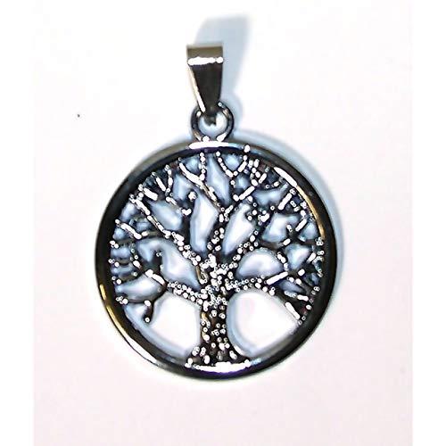 Lebensbaum Tree of Life Anhänger Kette Kettenanhänger Schmuck Edelstahl Silber