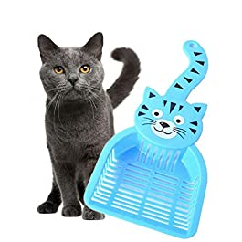 chunnron Cat Litter Scoop Cat Litter Scoop Shovel Durable Cat Litter Scoop Plastic Litter Scoop Litter Tray Scoop Cat Litter Scoop With Stand
