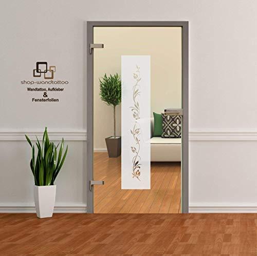 rs-interhandel® Glastür Aufkleber Tattoo Folie Glasdekor Fensterfolie Sichtschutz Wohnzimmer, Bad, Küche oder für alle Glasflächen Sichtschutzfolie für Türen GDT007