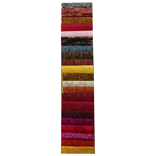 Midwest Textiles Sit 'n Sew Precut Tone On Tone 2.5'' Strips 40 Piece Fabric, Blender