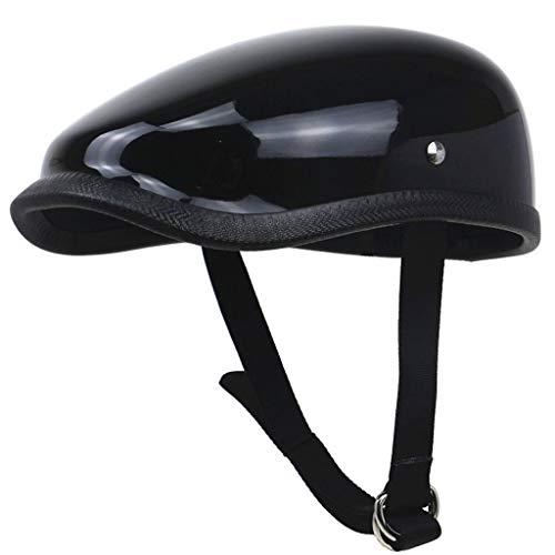 Lsrryd Helm Motorfiets Half Open Gezicht Bescherming Shell voor Scooter Bike Volwassen Verstelbare Half Vintage Harley Veiligheid anti-botsing Casual Driver