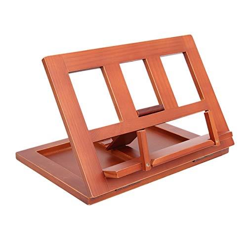 hongbanlemp Soporte de receta ajustable de madera resistente para lectura de la mesa portátil de cocina de madera para libros de texto