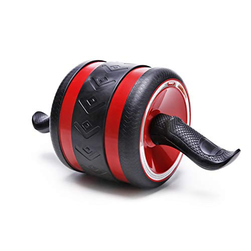 JAEZZIY Ab Roller for Abs Workout - Ab Carver Roller Pro Exercise Equipment - Ab Wheel for Home Gym - Abdominal Exercise Wheel with Knee Mat