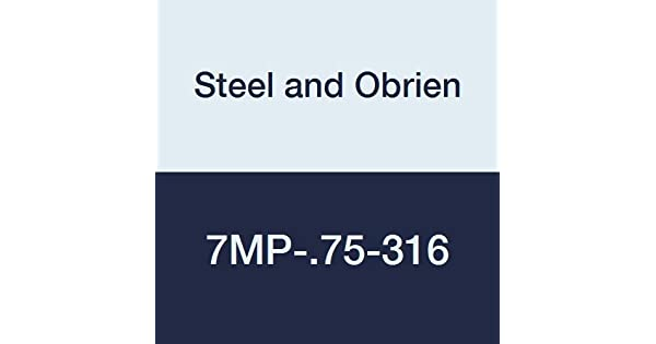 Steel and Obrien 7MP-.75-316 Stainless Steel Clamp Tee 3//4 3//4