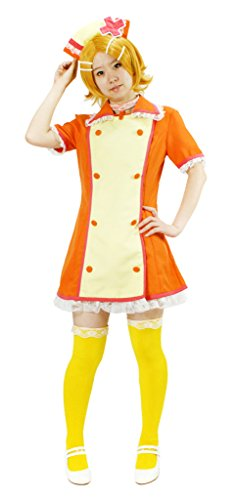 MILICA BOOKS Vocaloid Love Colored Ward Kagamine Rin Nurse Cosplay Costume (Small) Orange