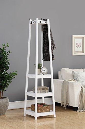 standing coat rack with shelf - 4