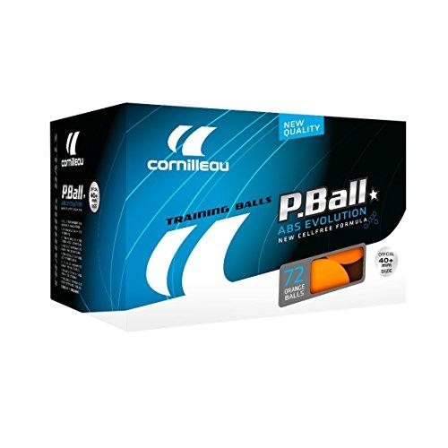Cornilleau ITTF Kunststoff ABS Evolution 1Star Training Kugeln (72Stück) Einheitsgröße Orange