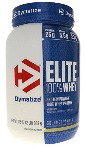 Dymatize Nutrition Elite Whey Protein Powder, Gourmet Vanilla, 2 Pounds by Dymatize