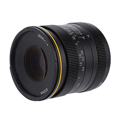 zhuolong Kamlan 28mm f1.4 Obiettivo grandangolare con Messa a Fuoco Manuale a Grande Apertura APS-C per Fotocamere mirrorless(Baionetta Fuji-X)