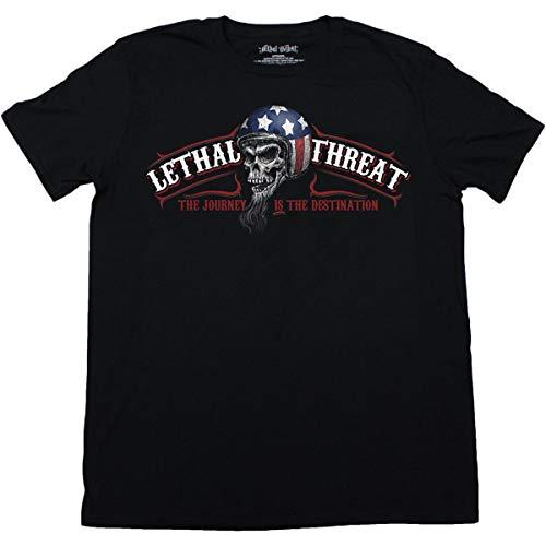 Lethal Threat Herren T-Shirt (Ride Hard) (Schwarz, XXX-Large)