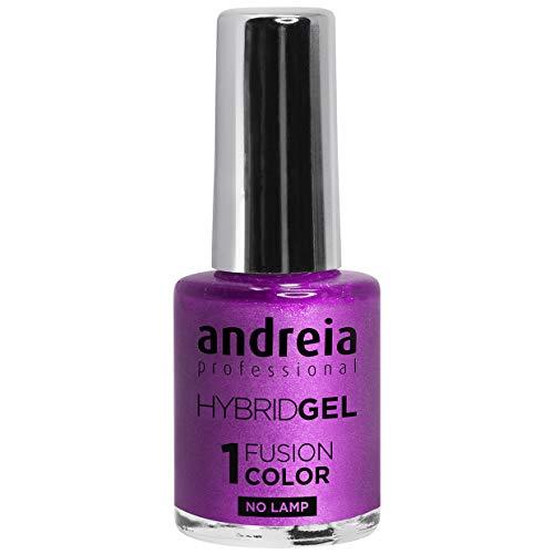 Andreia professionele hybride gel nagellak - 2 stappen en geen lamp nodig Langdurige en eenvoudige verwijdering - Fusion Color H52 Paars  Tinten metallic grijs